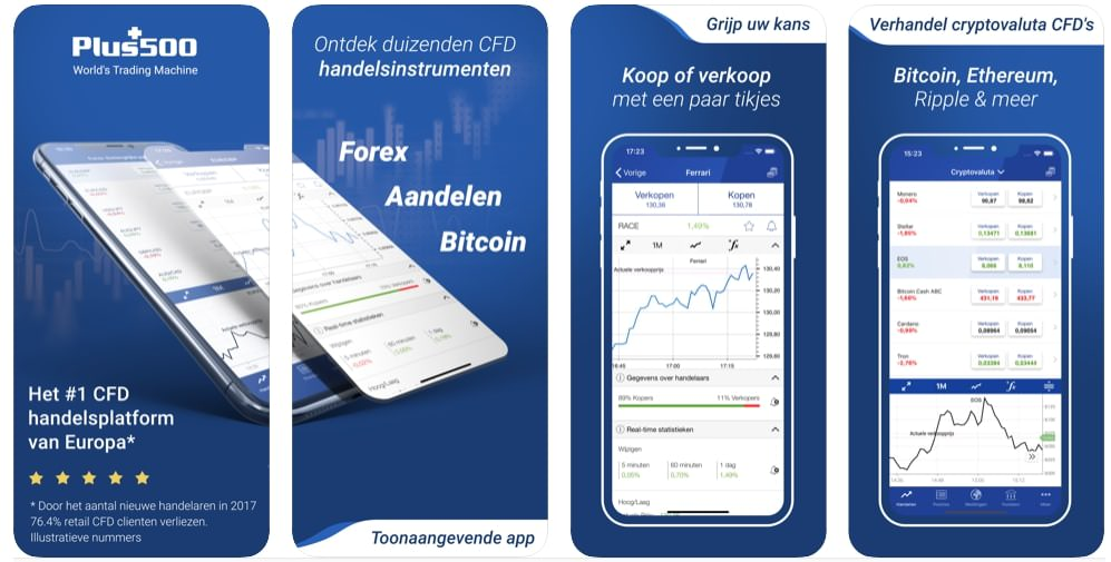 Plus500 Beleggingsapp | Mobiel Beleggen app | Aandelen app | Beurs app