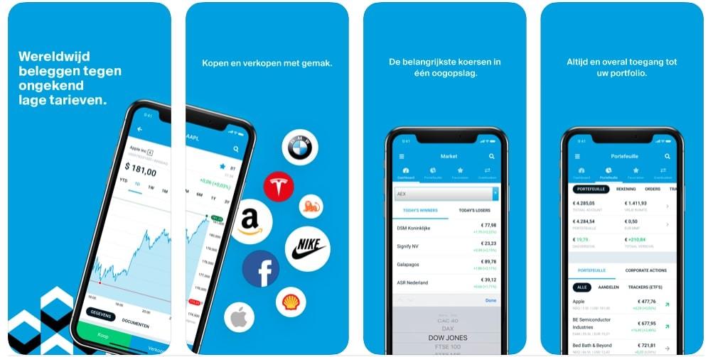 DEGIRO Mobiel Beleggen app | Aandelen app | Beleggingsapp | Beurs app