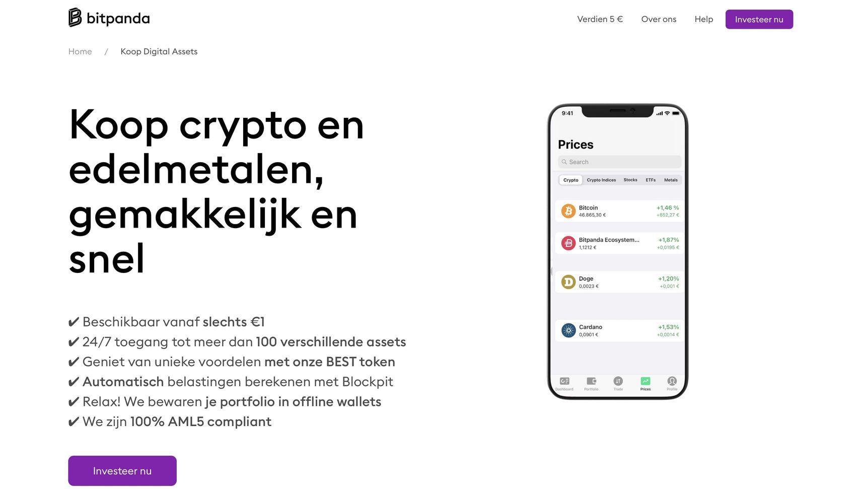 Bitpanda Beste Crypto Brokers Vergelijken