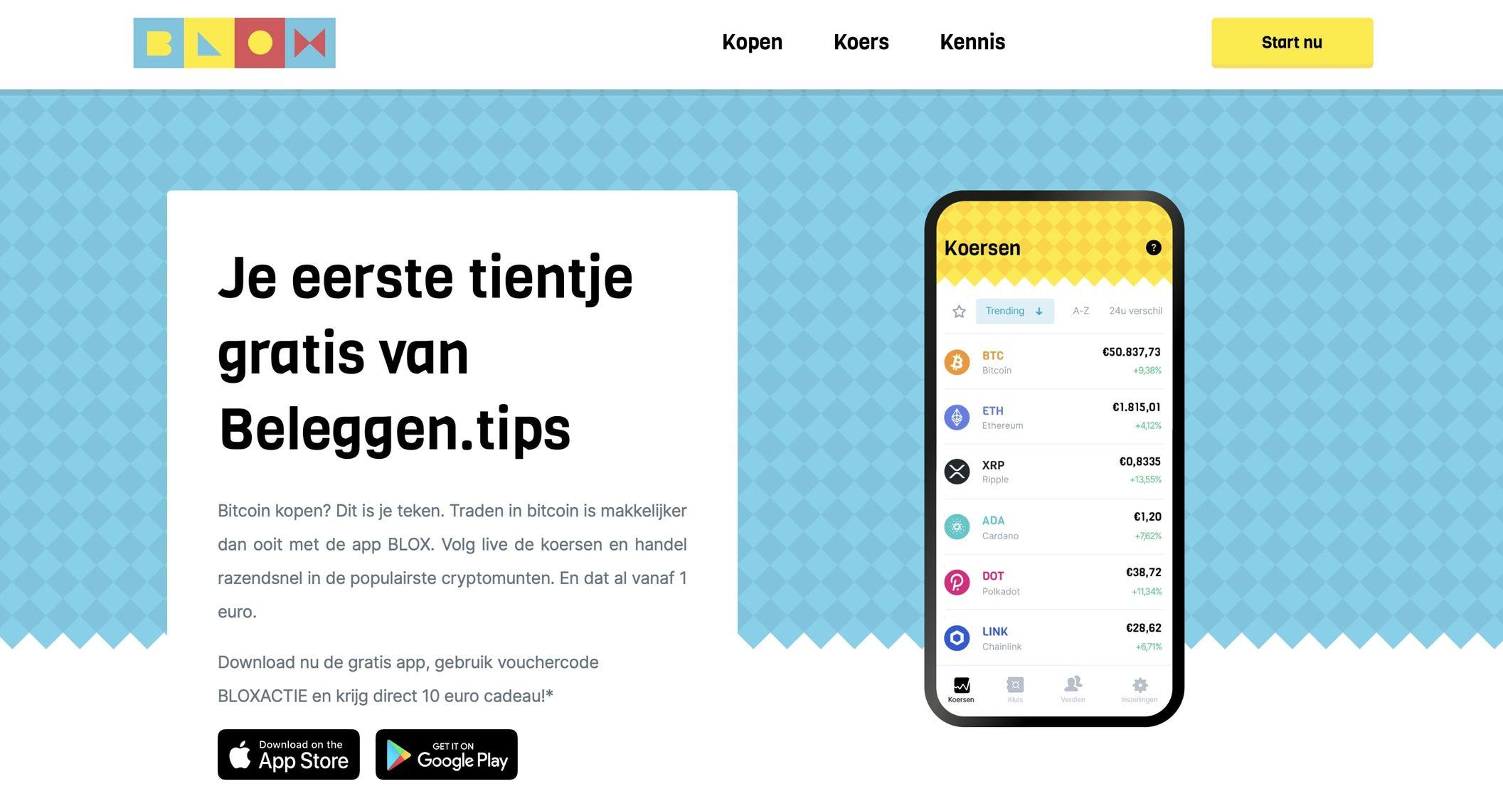 Blox crypto platform voor beginners